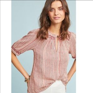 Anthropologie Chloe Striped Top New Blouse Large